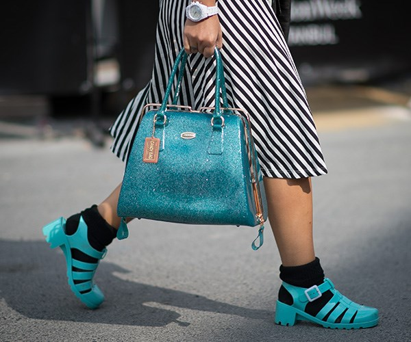 Jelly shoes back in fashion