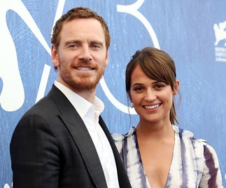 Alicia Vikander and Michael Fassbender.