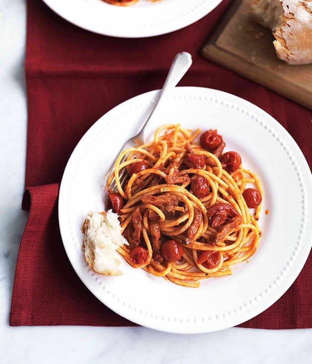 Bucatini All'Amatriciana recipe | Epicurious.com