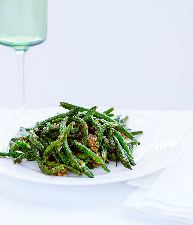Sichuan-style green beans with pork mince :: Gourmet Traveller