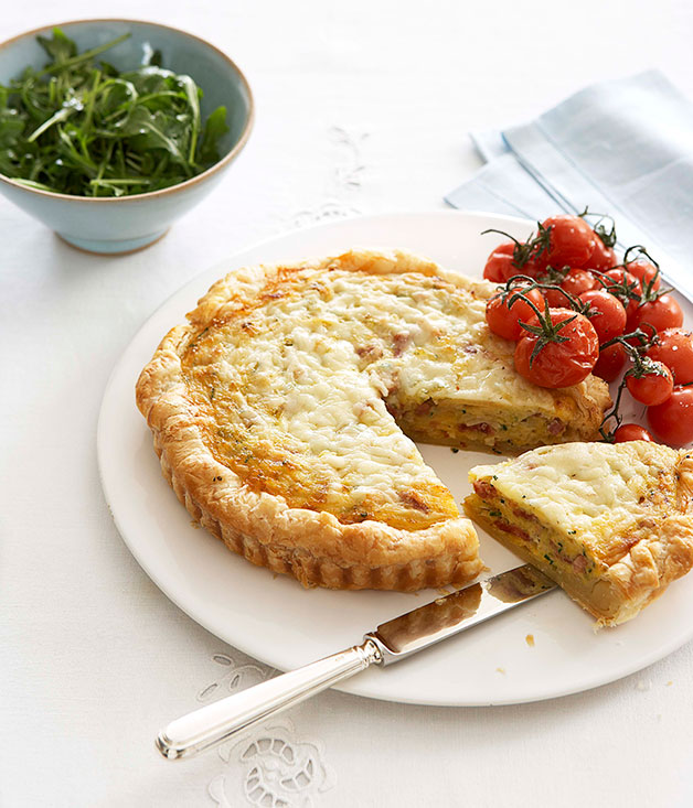 Ham and leek quiche :: Gourmet Traveller