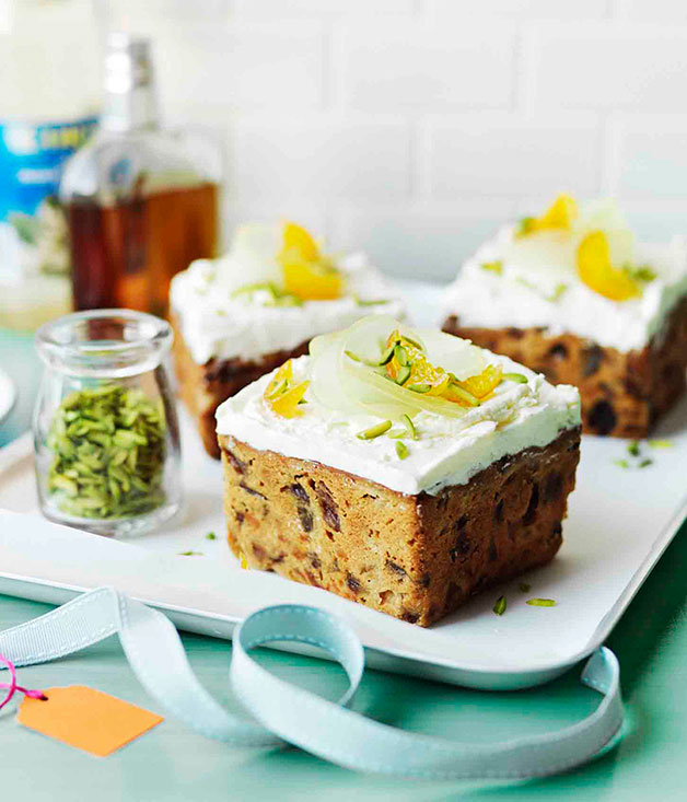 Middle eastern fruit cakes with orange blossom meringue for Anoush middle eastern cuisine