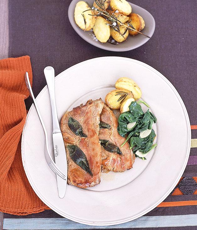 Saltimbocca alla Romana | Gourmet Traveller recipe :: Gourmet ...