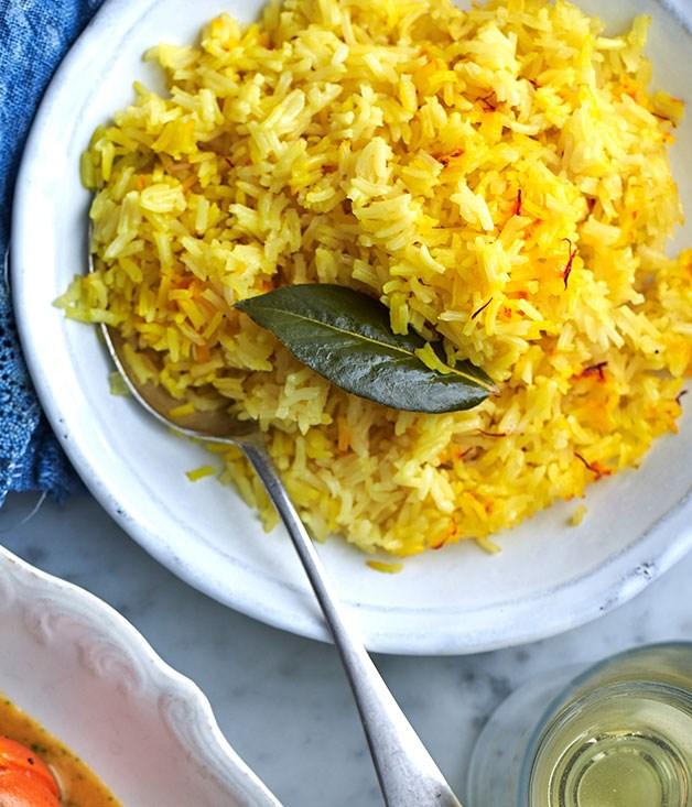 Saffron Rice Pilaf Recipe — Dishmaps