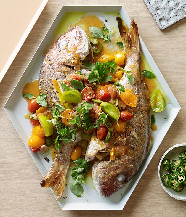 Snapper veracruz recipe fast seafood recipe gourmet for Fish veracruz recipe