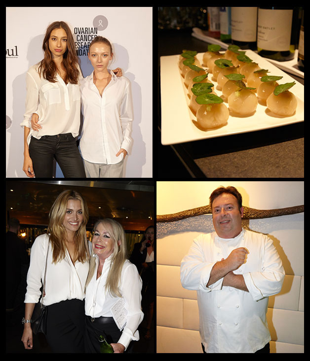 From top left: Alexandra Agoston and Louise van de Vorst, Cheyenne Tozzi and Liz Heliotis, Peter Gilmore.