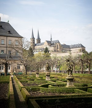 Bamberg New Residence and Rose Garden