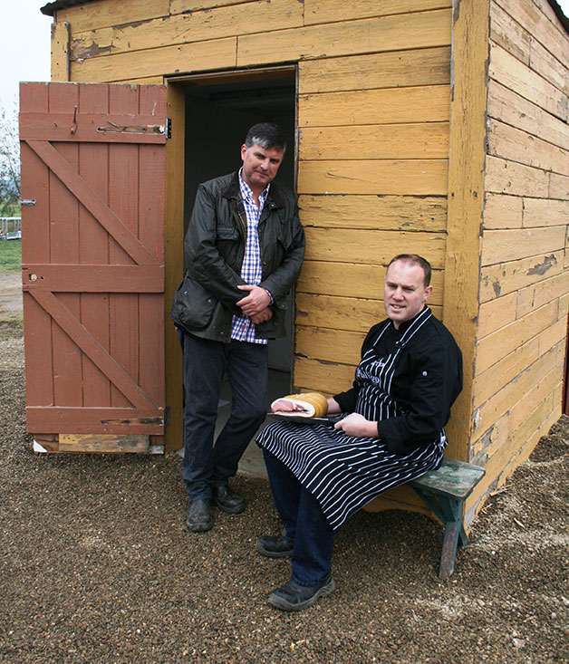 Charlie Costelloe and Peter Curry of Pialligo Farm Smokehouse