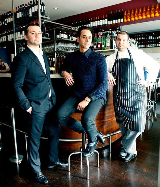 Sommelier Steve Kimonides, co-owner Joe Mammone and chef David Dellai