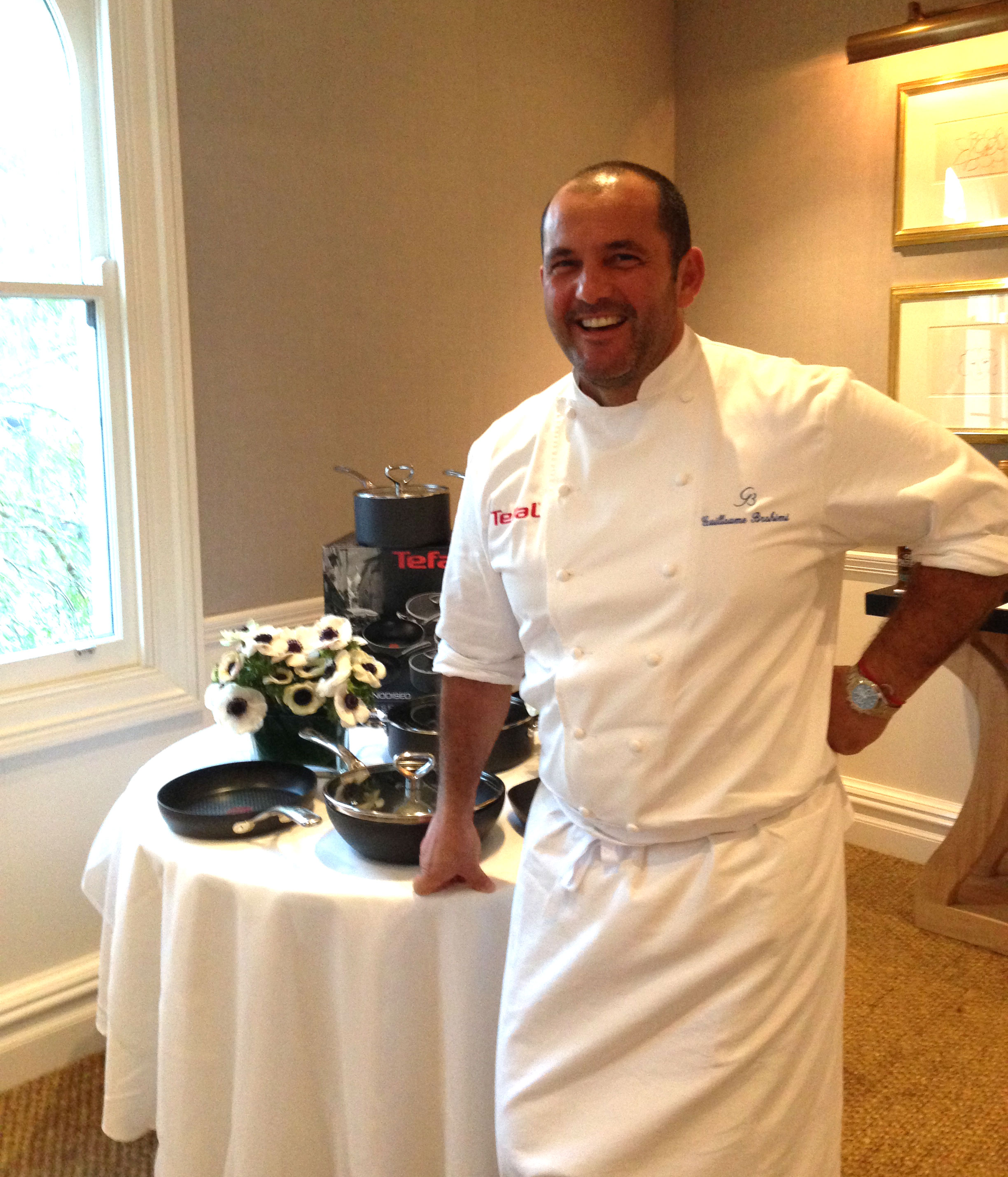 Guillaume Brahimi with Tefal's new range
