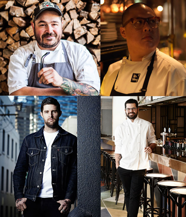 Sean Brock, Dan Hong, Luke Powell and Alejandro Saravia