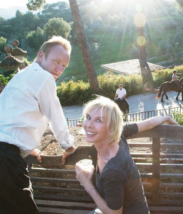 Sting and Trudie Styler at their Tuscan estate