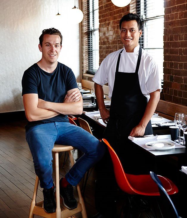 Nicholas Gurney and chef Tapos Singha
