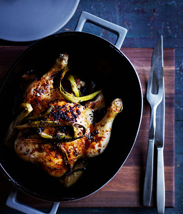 Chinese-style roast chicken recipe :: Gourmet Traveller