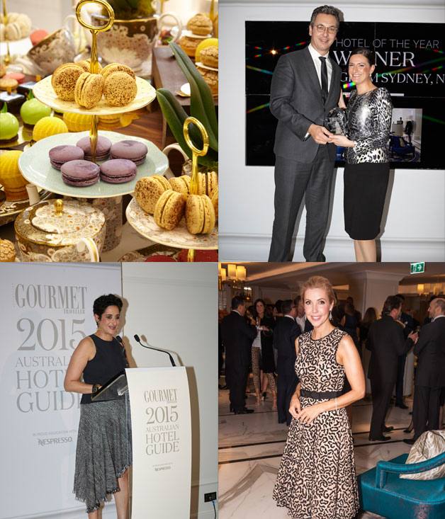 Clockwise from top right: Nespresso's Loic Rethore with Langham Sydney's Sonia Lefevre, Catriona Rowntree, Anthea Loucas