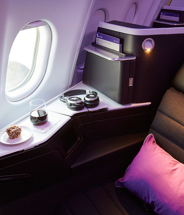Virgin Australia's new domestic business-class seat, launched today in Sydney, on its Airbus A330 fleet.