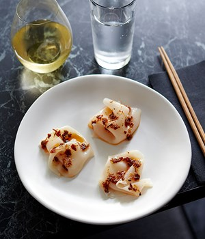 Scallop silk with XO sauce