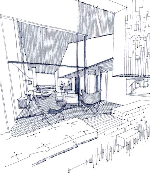 A sketch of the suites at Brae