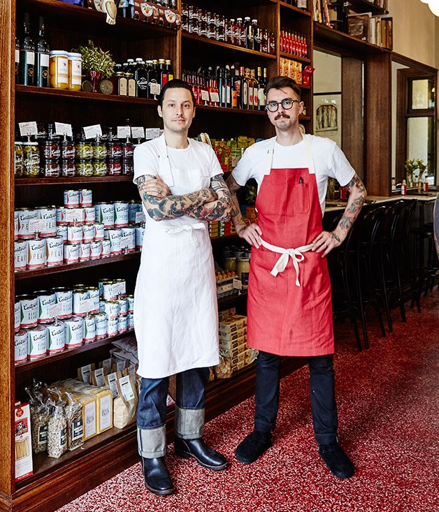 Owner-chef Elvis Abrahanowicz (left) and chef Jesse Warkentin