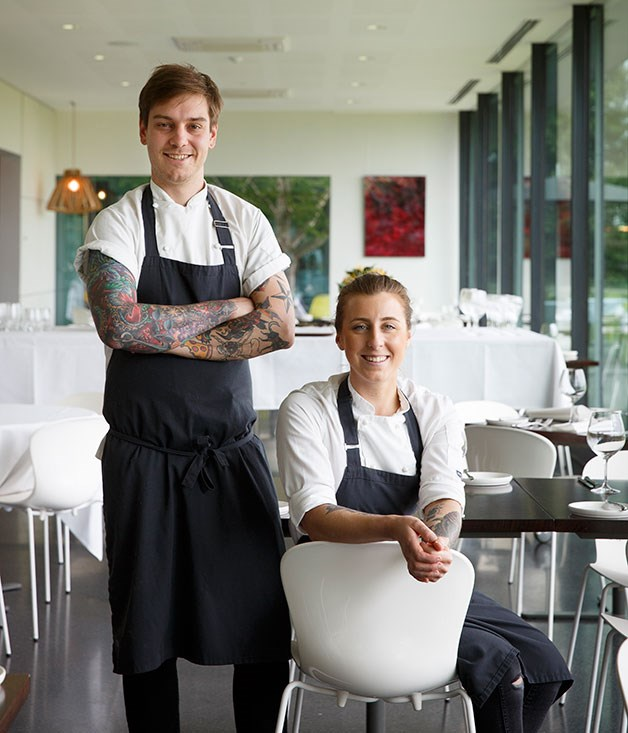 Chef Matt Stone with sous-chef Jo Barrett