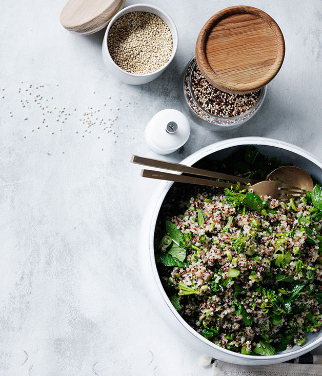 Quinoa and broccolini salad