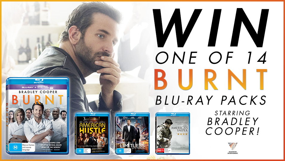 Win a Roadshow Entertainment Blu Ray pack including Burnt!