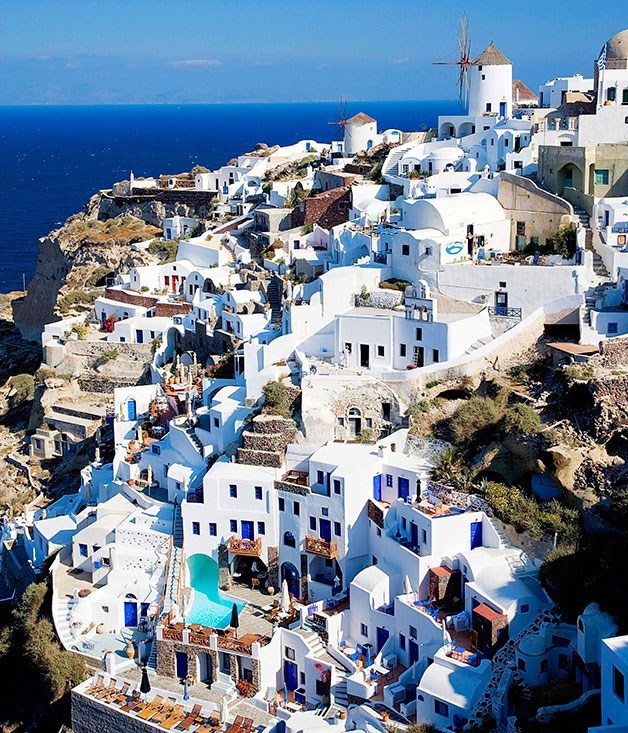 Oia on the island of Santorini
