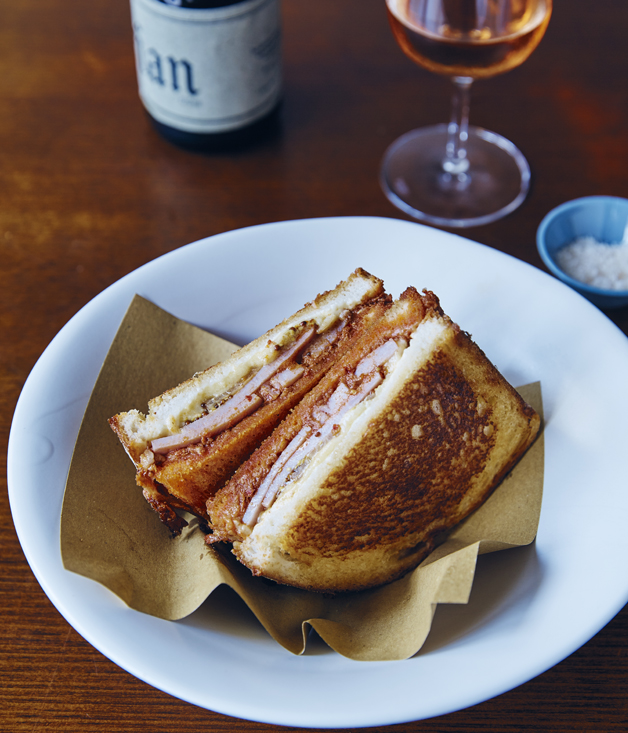 Analiese Gregory's  'nduja, pineapple and mustard Christmas-ham sandwich