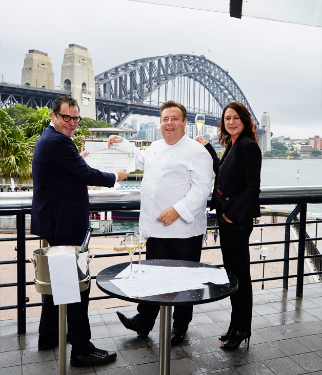 John Fink, Peter Gilmore and Kylie Ball