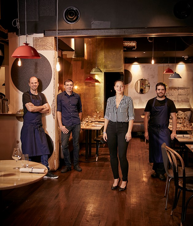 Co-owners chef Brent Savage and Nick Hildebrandt, restaurant manager Brooke Adey and chef Adam Wolfers