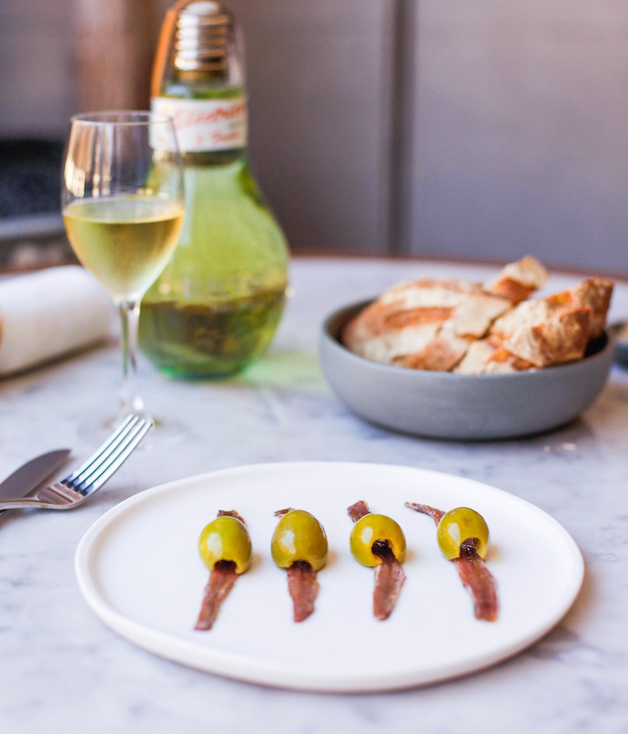The Resident's anchovies with gordal olives