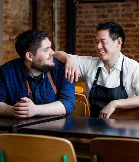 Contra and Wildair chef-owners Fabian von Hauske and Jeremiah Stone