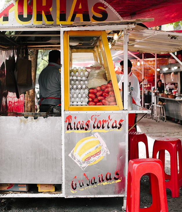 A street-food stall in Mexico City's Roma neighbourhood