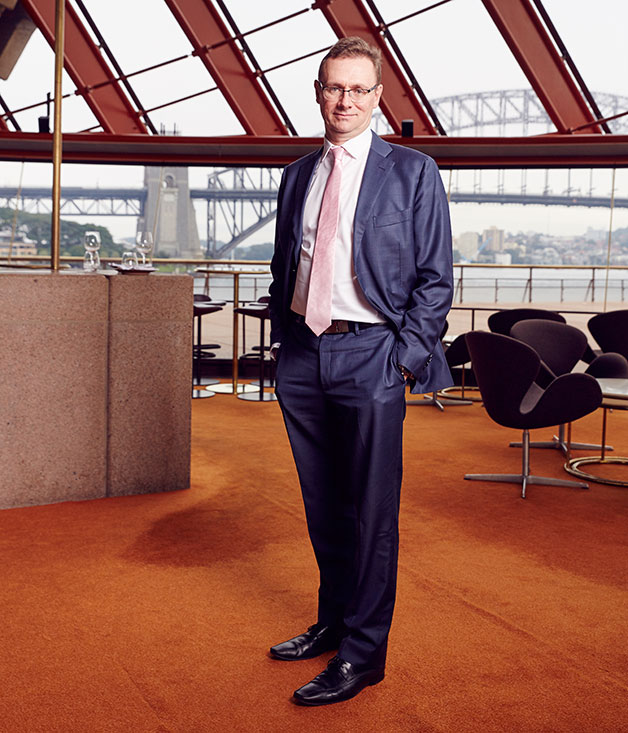 Tourism Australia's managing director John O'Sullivan at Bennelong in Sydney
