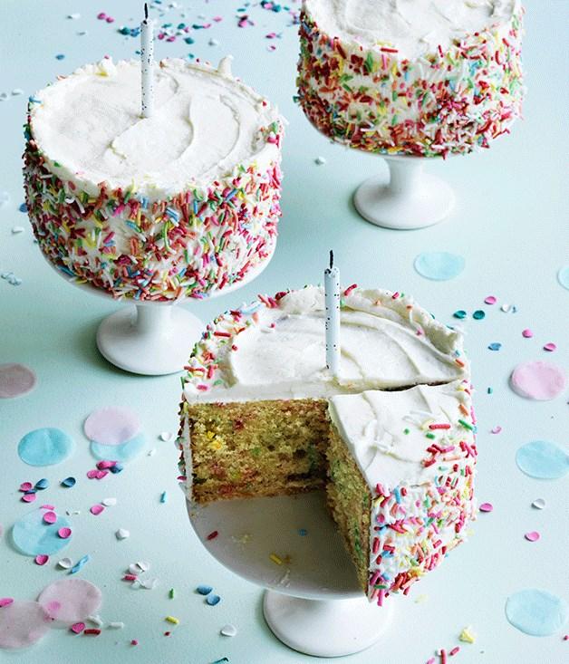 Confetti Birthday Cakes Recipe Gourmet Traveller