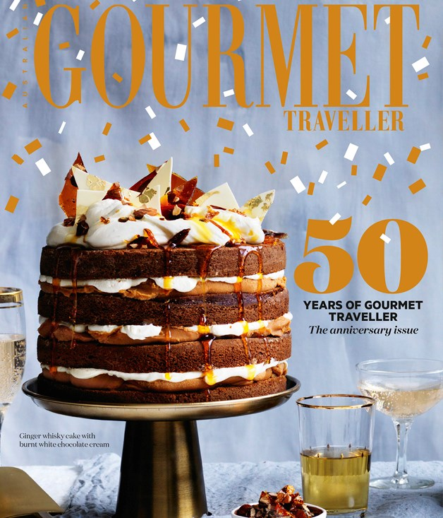 Gourmet Traveller's 50th issue cover