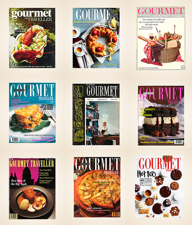 50 Gourmet Traveller covers from the past 50 years