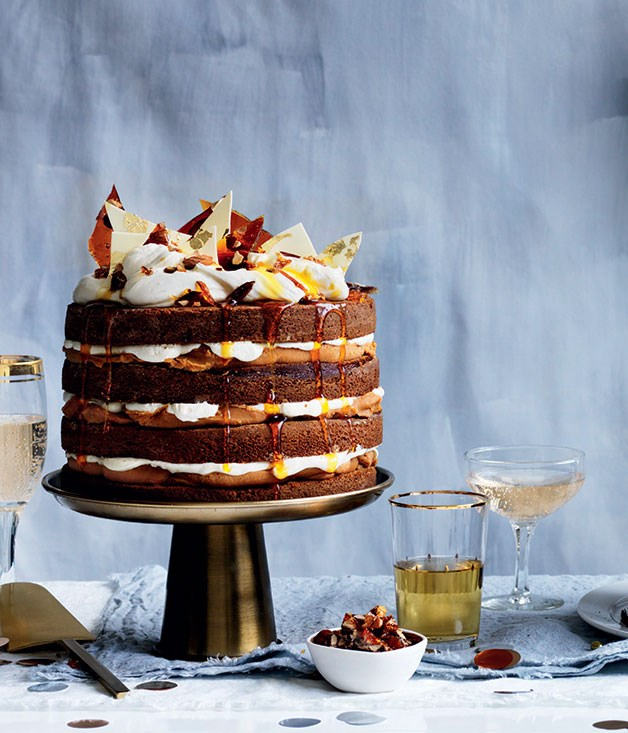 The Gourmet Traveller 50th Birthday Cover Cake Ginger Whiskey With Burnt White Chocolate Ganache