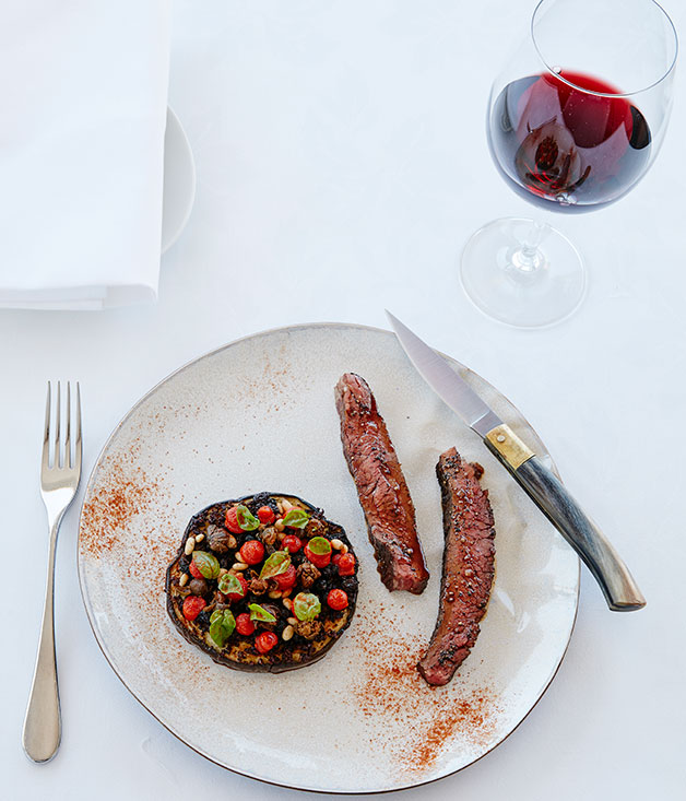 Rangers Valley flank steak with caponata