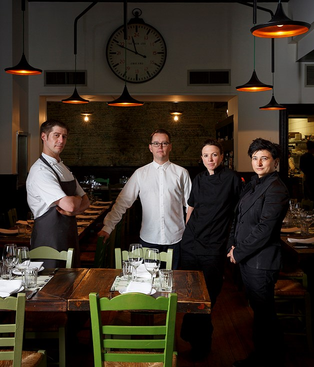 Left to right: Epocha head chef Alex Drobysz, co-owner Guy Holder, executive chef Brooke Payne and co-owner Angie Giannakodakis.
