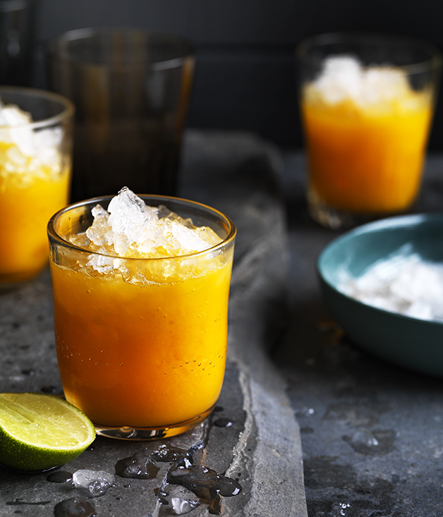 Mango, turmeric and ginger-lime nectar