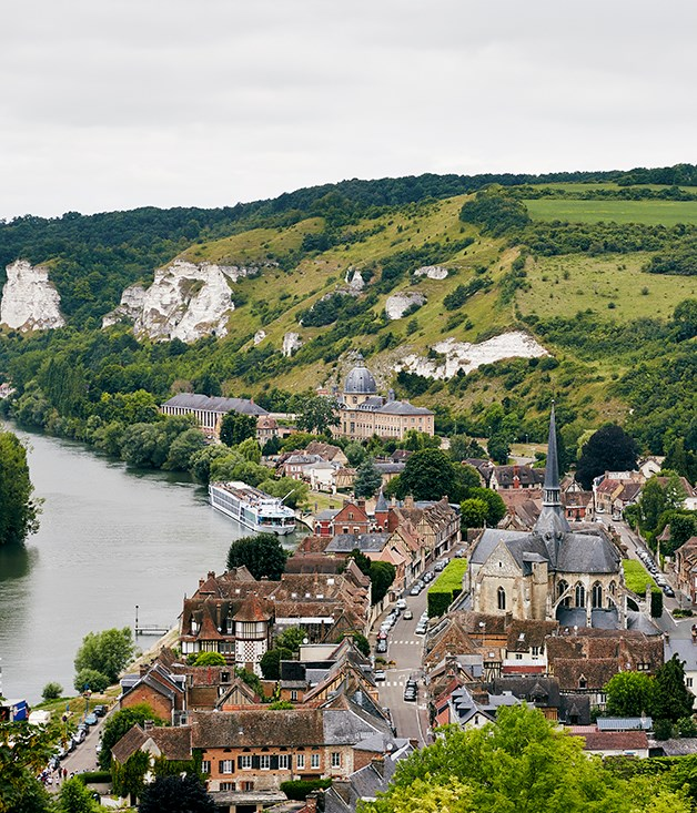 Les Andelys on the River Seine in Normandy