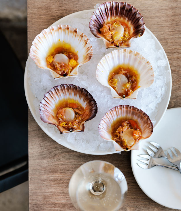 Saint Peter's scallops with citrus dressing