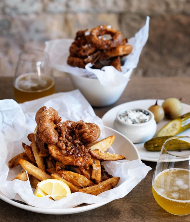 Saint peter 39 s fish and chips recipes gourmet traveller for Gourmet fish recipes