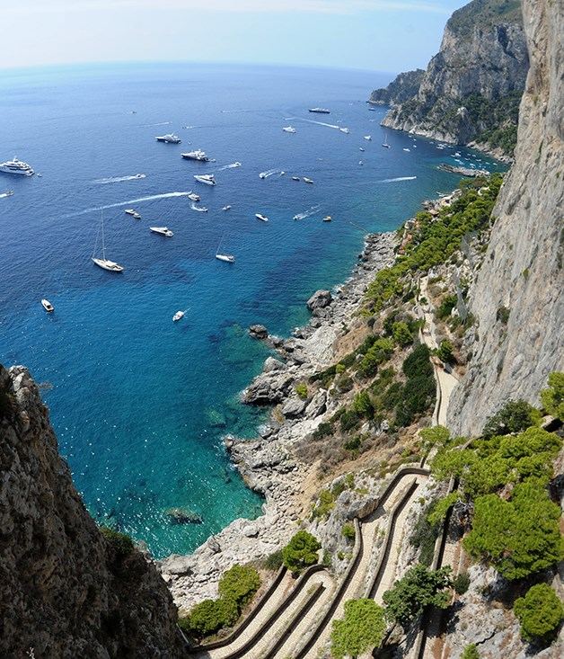 The island of Capri, home to the Caprese salad