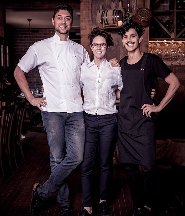Chef and co-owner Matteo Margiotta, co-owner Diane McDonald and bar manager Antonello Arzedi