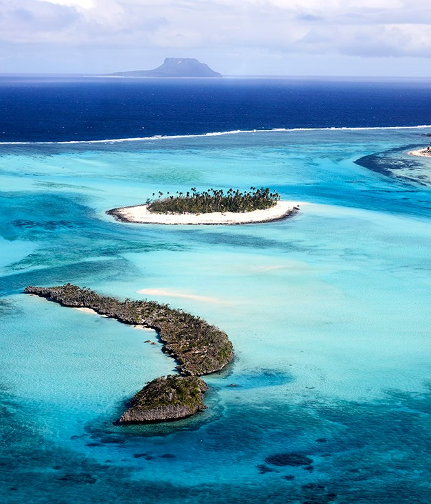 Aerial view of Vatuvara Private Islands