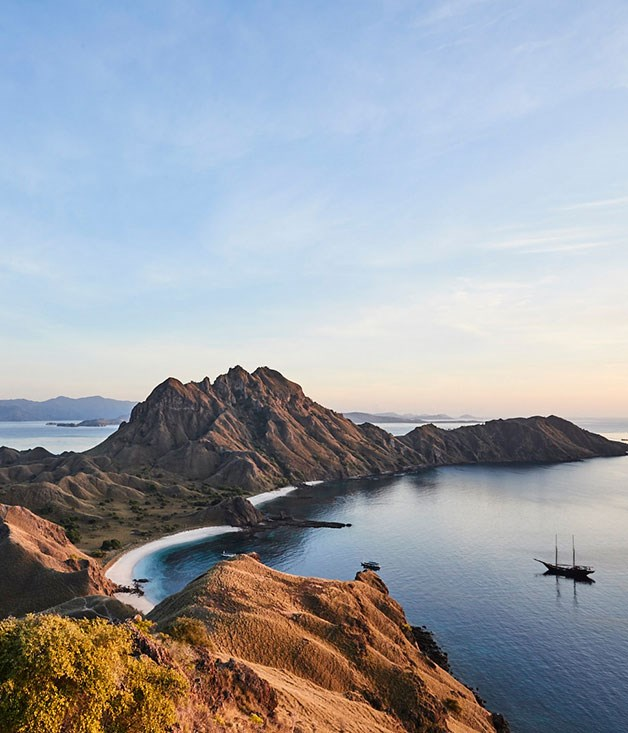 Amandira anchored off Padar Island, in Komodo National Park