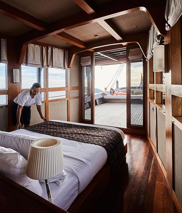 The master cabin on Amandira