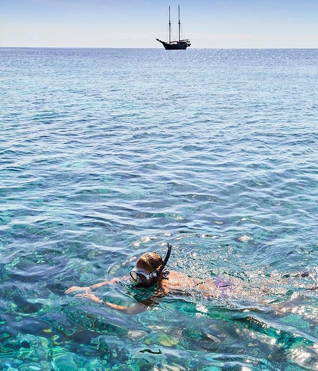 Snorkelling off Tatawa Besar Island